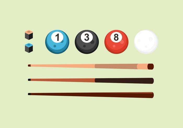 FREE POOL STICKS VECTOR