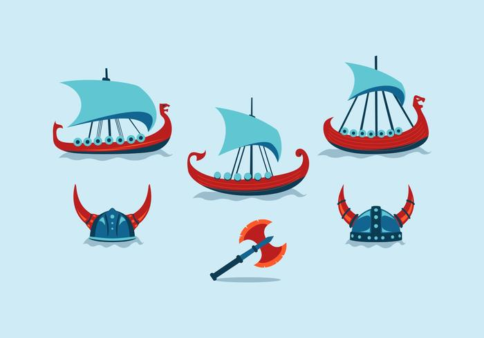 VECTOR GRATIS DE VIKING SHIP