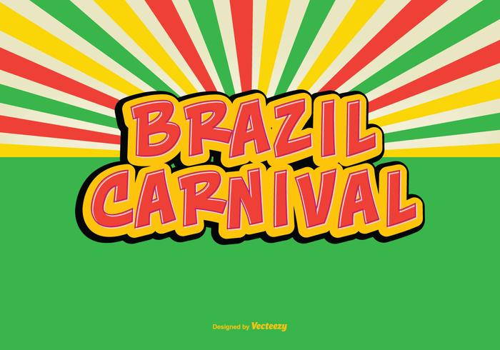 Colorful Retro Brazil Carnival Vector Illustration