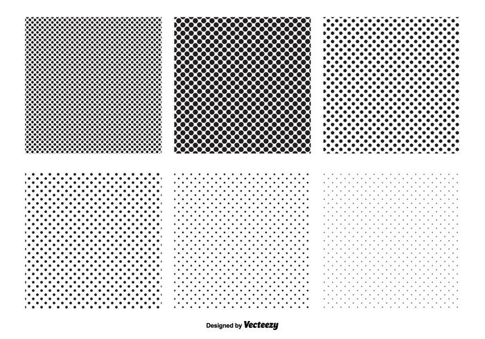Transparante Polka Dot Vector Patronen
