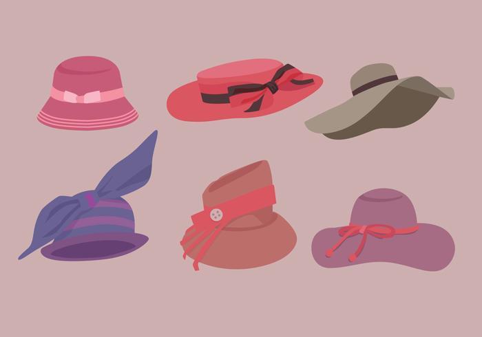 Vetores de chapéu de senhoras