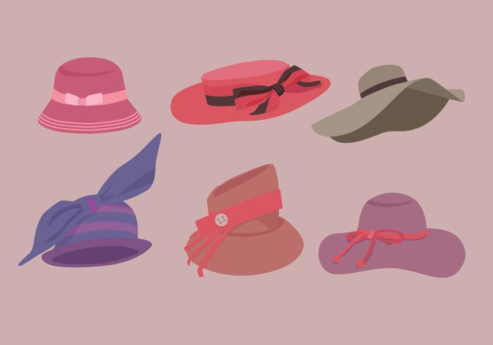 Ladies Hat Vectors