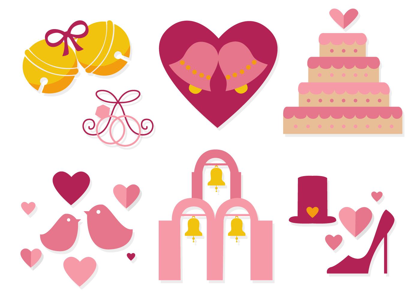 Wedding Flowers Vector Free Download : Free wedding bells vector download art