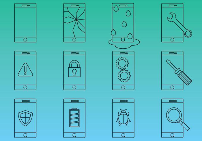 Cellphone Repair Icon Vectors
