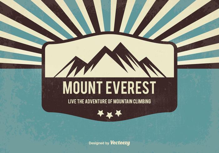 Retro Style Everest Background
