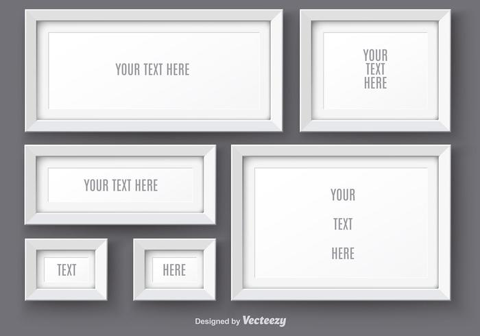 White Realistic Photo Frame Vectors