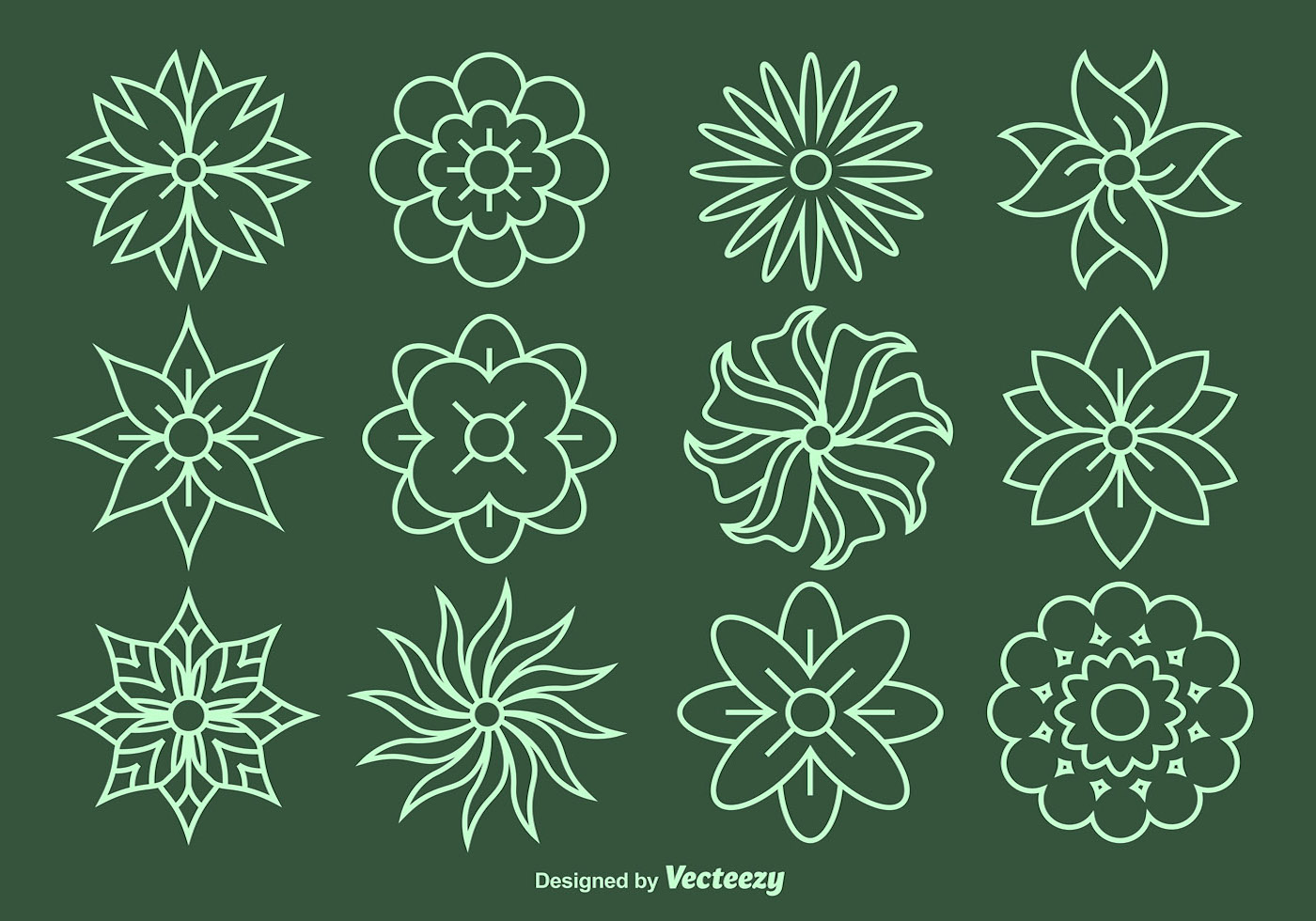 Vector Drawing Lines Unity : Flower line vector icons download free art stock
