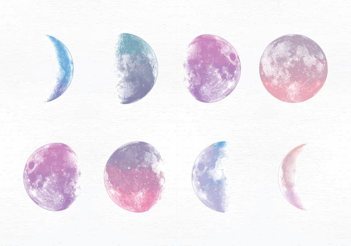 Vector Moon Phases - Download Free Vector Art, Stock Graphics & Images