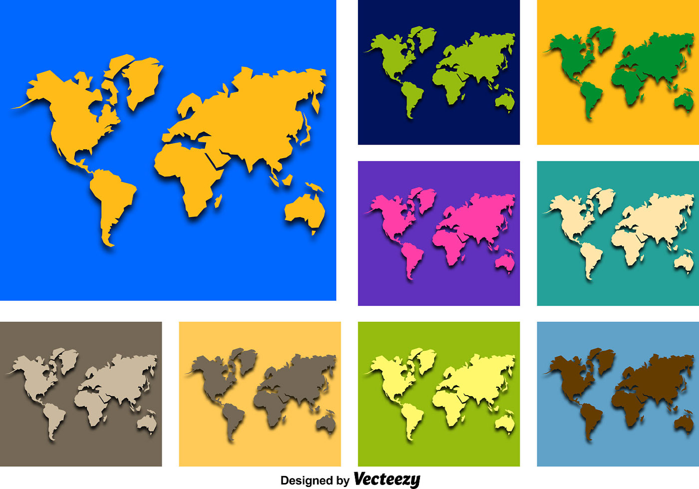 original abstract world map - photo #22