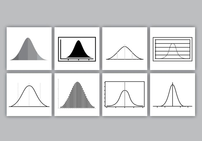 Bell Curves Vector Pack