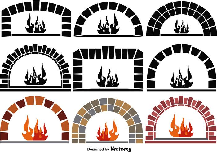Vector Pizza Ovens Elements Download Free Vector Art