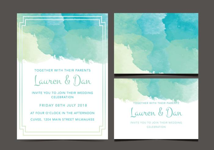 Invitation de mariage gratuite vecteur