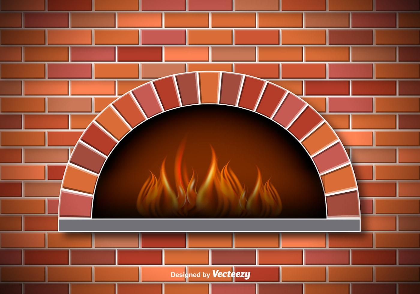 vector rustic pizza oven download free vector art stock