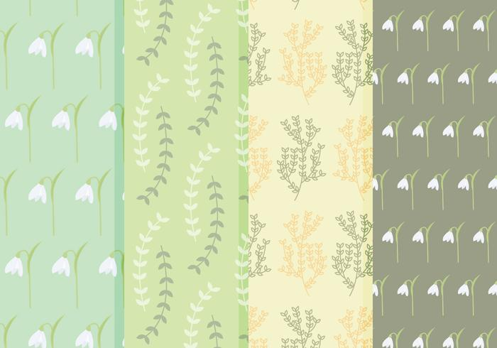 Free Spring Flower Vector Patterns
