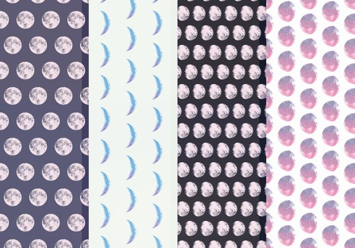 Free Moon Phase Vector Patterns