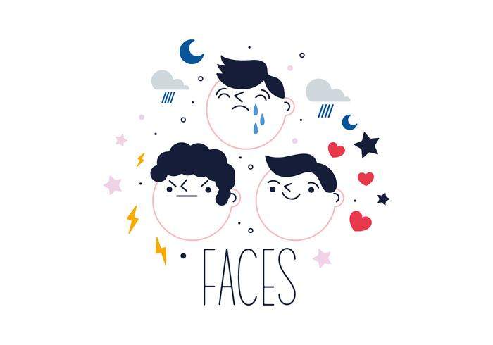 Free Faces Vector