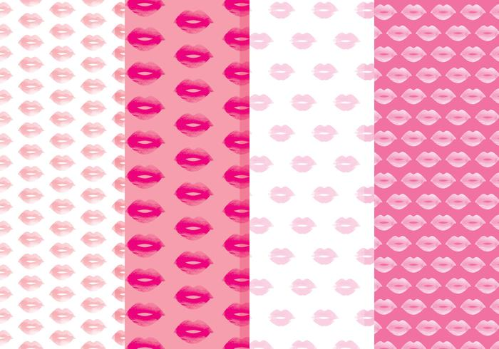 Free Lips Vector Patterns