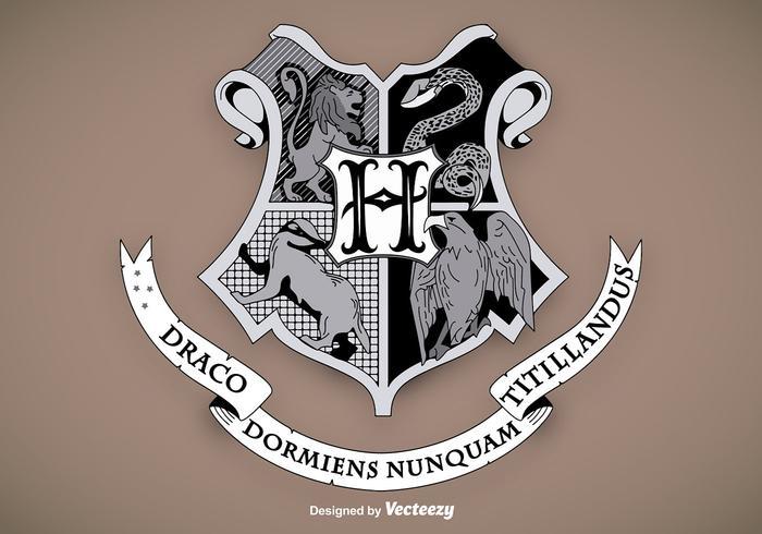Hogwarts Escuela Escudo Vector