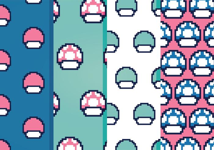 Video Game Vector Patterns