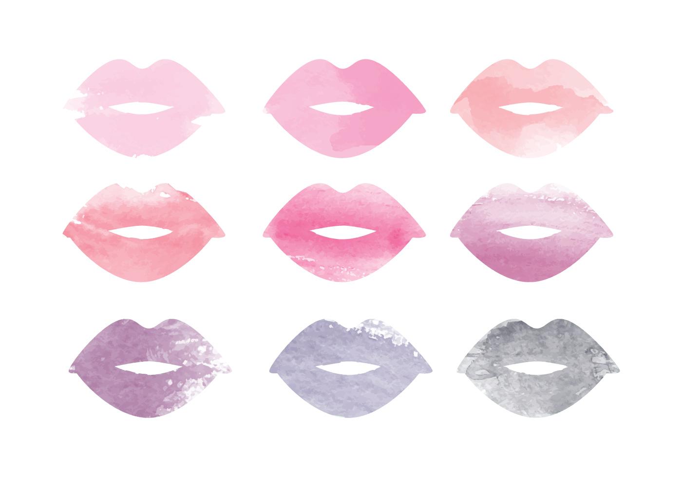 Vector Watercolor Lips - Download Free Vector Art, Stock ...