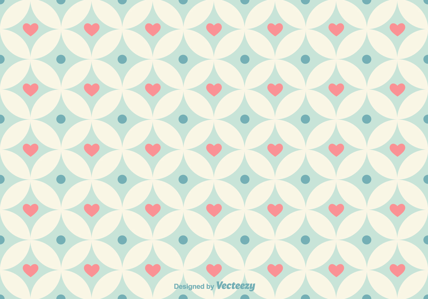 Geometrical Hearts Vector Pattern Download Free Vector