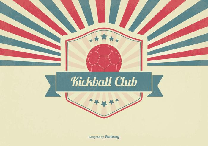 Retro kickballklubb illustration vektor