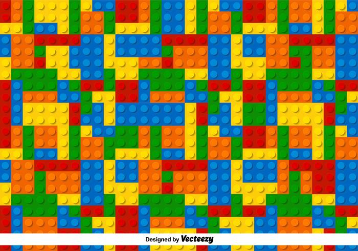 Multicolor Lego Vector Pattern