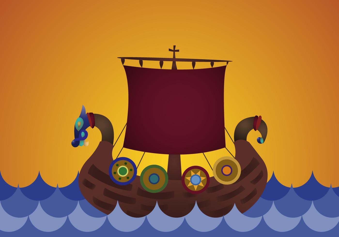 Free Viking Ship Vector - Download Free Vector Art, Stock ...