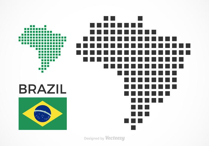 Free Brazil Vector Pixel Map