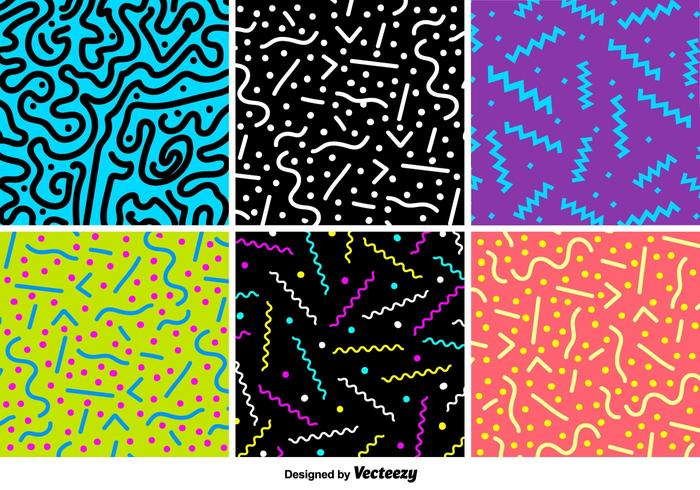 Retro Party Vector Patterns