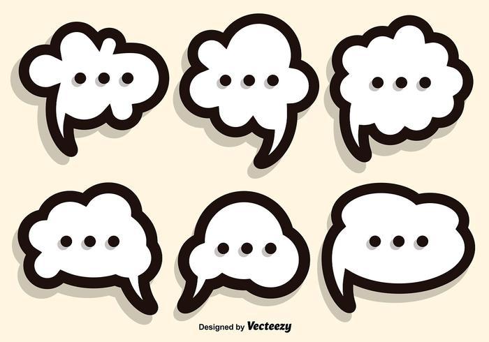 Llamada conjunto de vectores de burbuja de discurso