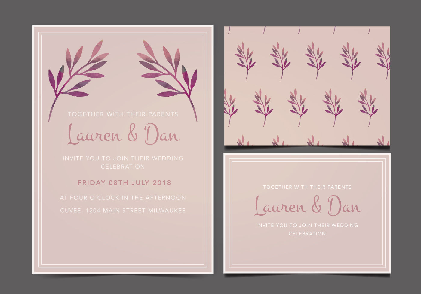 Vector Wedding Invitations: Download Free Vectors, Clipart