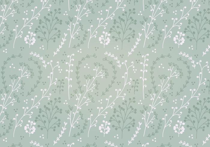 Free Soft Green Flower Vector Pattern