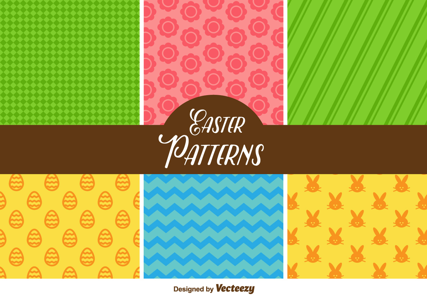 Cute Easter Vector Patterns