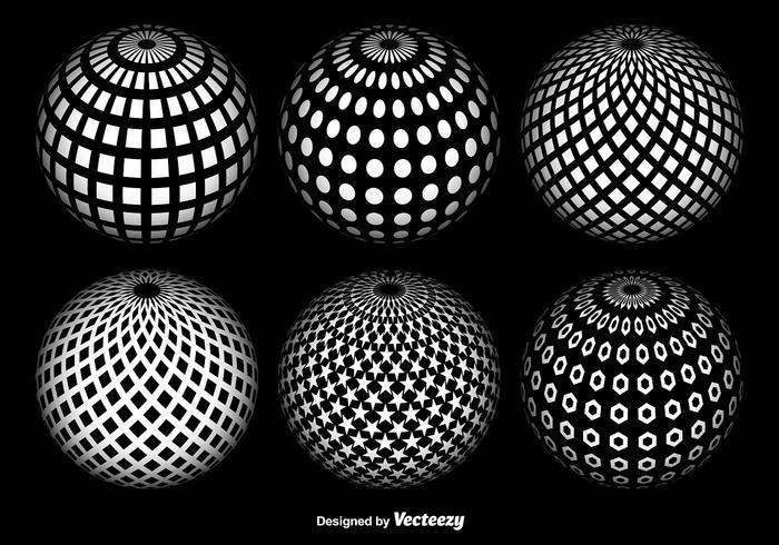 Conjunto de vectores de globo abstracta