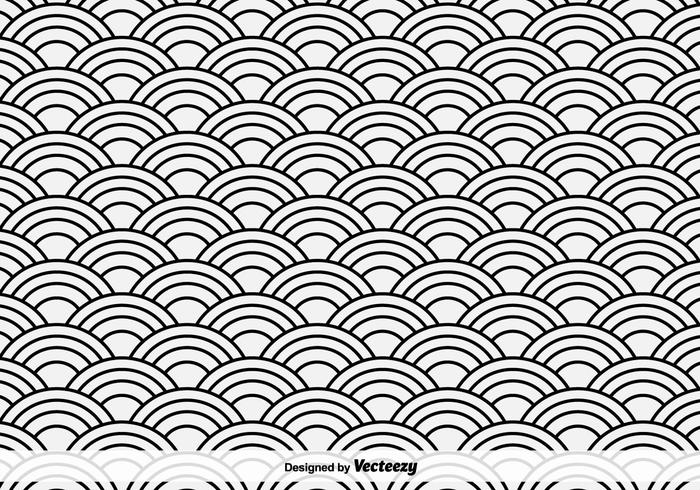 Oriental Sea Vector Pattern