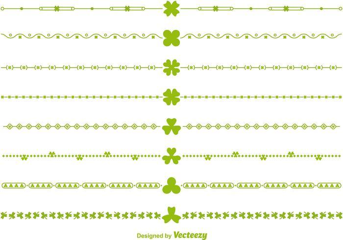 Green Vector Irish Borders and Divider Vectors