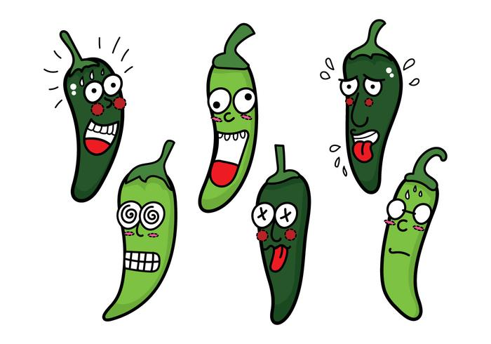 Green Hot Pepper Vector