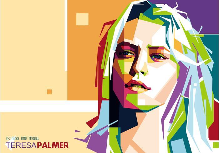 Teresa Palmer Retrato Vector