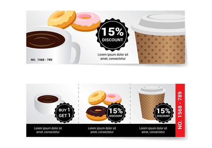 Free Coffee Voucher Vector