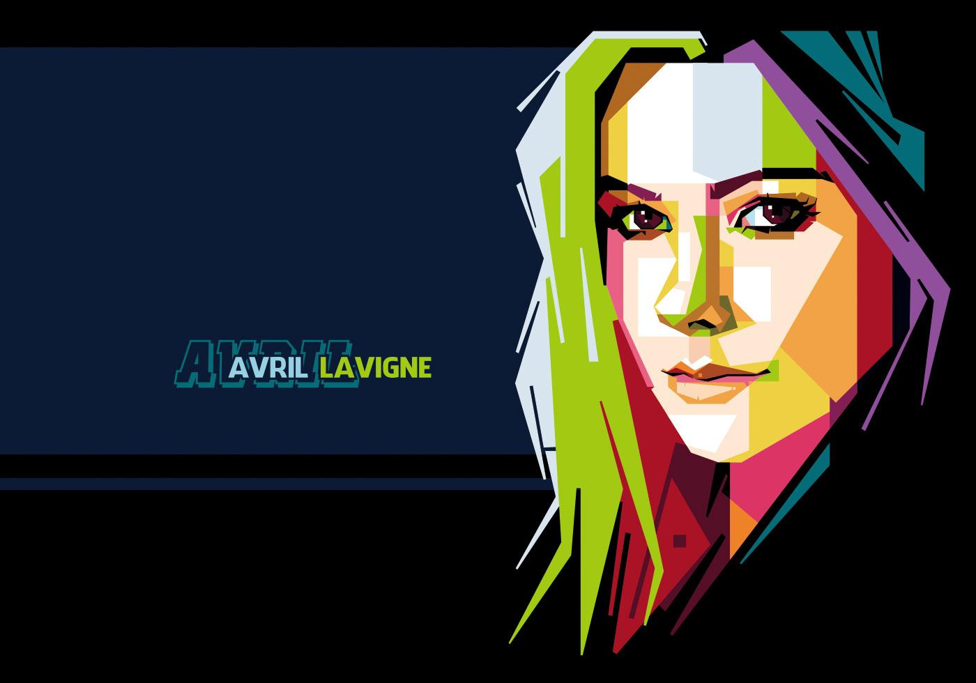avril lavigne vector portrait download free vector art