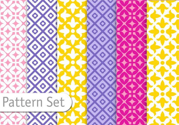 Conjunto de padrões coloridos