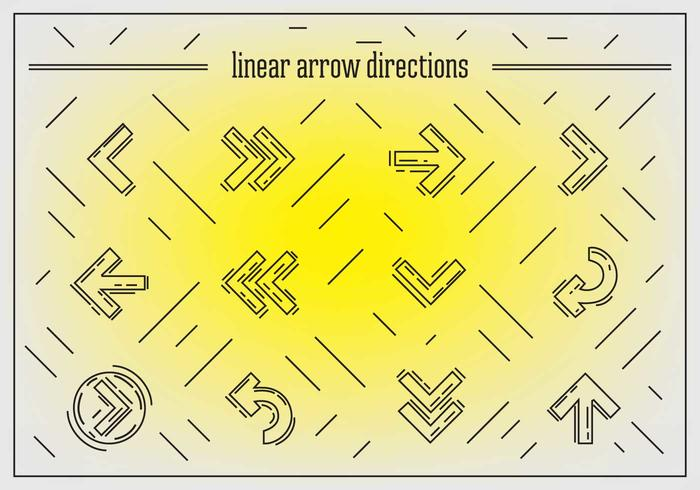 Free Linear Arrows Vector