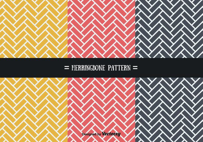 Stylish Herringbone Patterns Vector