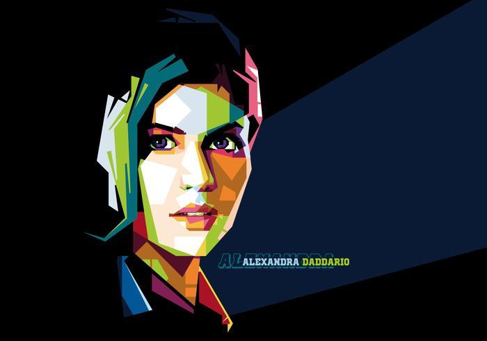 Alexandra Daddario Vektor Porträt