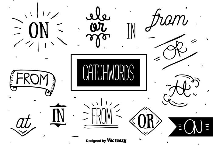 Free Catchwords Set Vector
