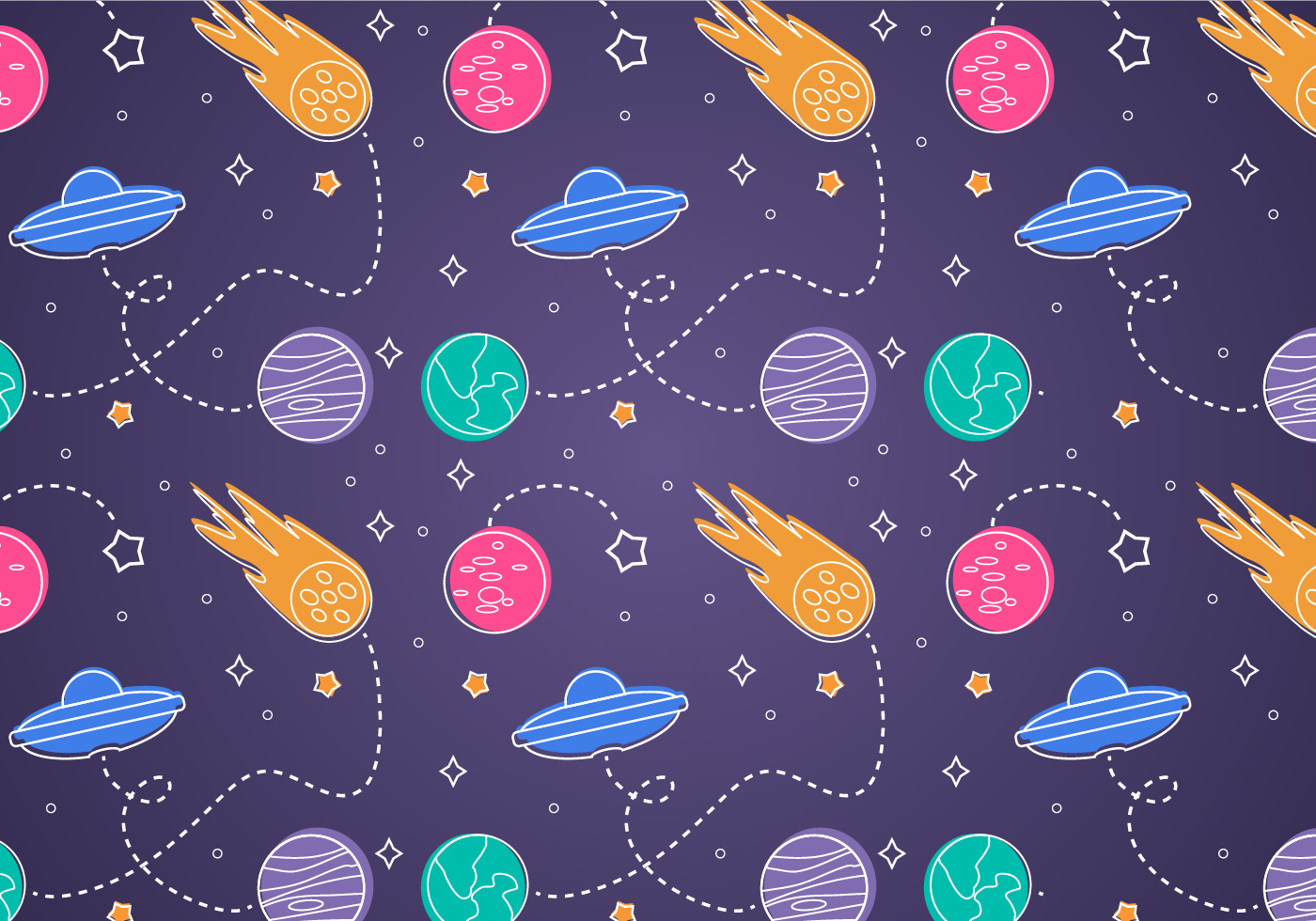 Free Space Seamless Pattern Background Illustration ...