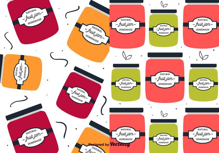 Fruit Jam Pattern Vector