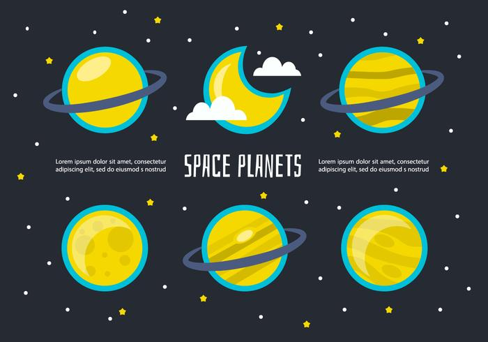 Free Space Planets Vector