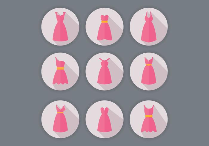 Bridesmaid Dress Vectors
